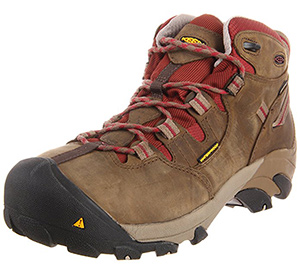 best Keen Women's Detroit work boots for plantar fasciitis